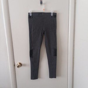 EUC Adidas Neo Gray & Faux Leather Pull On Pants